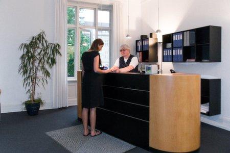 Receptionen Kiropraktorerne Hviid Aarhus